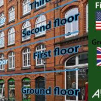 first floor (US) / ground floor (UK)