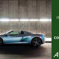 convertible, not open car