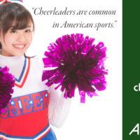 cheerleader, not cheer girl