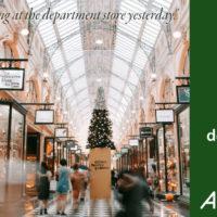 department store, not depart